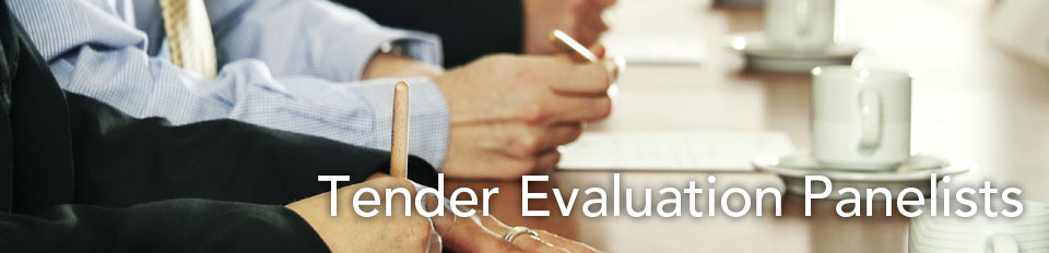 Tender Evaluation Panelists