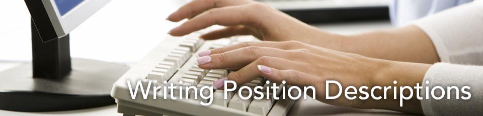 Writing Position Descriptions